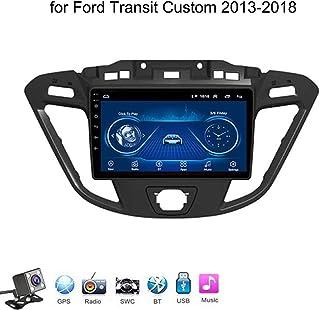 Android 8.1 Car Radio de Navegación GPS para Ford Transit Custom 2013-2018 con 9 Pulgada Pantalla Táctil Support WLAN FM Am/MP5 Player/Bluetooth Steering Wheel Control