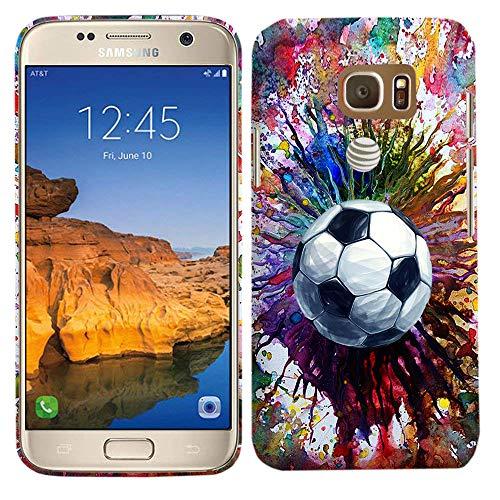 Glisten Samsung Galaxy S7 Active Case - Vintage Color Soccer Printed Sleek, Slim Fit & Cute Plastic Hard Snap on Designer Back Samsung S7 Active Case/Cover