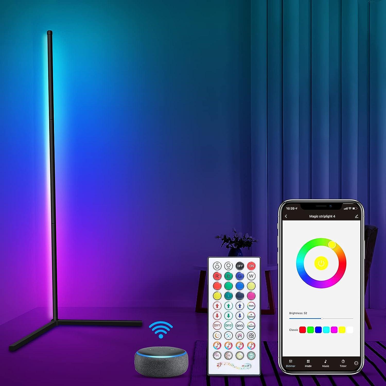 GreatPro Smart Floor Cheap Financial sales sale SALE Start Lamp RGB Light WiFi Work with Corner