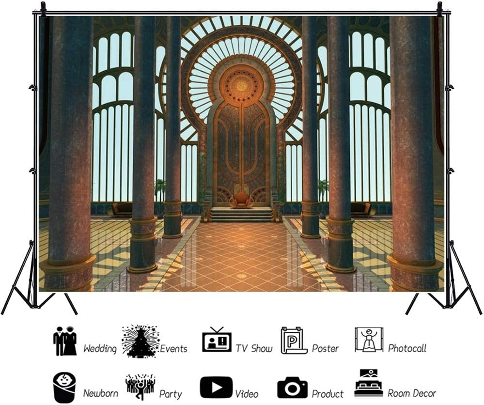 OERJU 12x10ft Notre Dame de Paris Interior Backdrop Jesus Christ Photography Background Home Decor Kids Adults Baptism Party Banners Baby First Communion Supplies YouTube Video Making Wallpaper