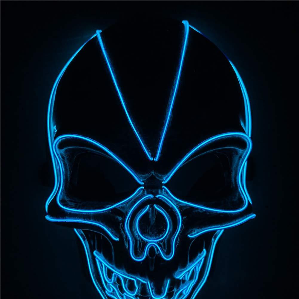 MBEN Máscara de Esqueleto de Halloween con luz LED para Disfraz ...