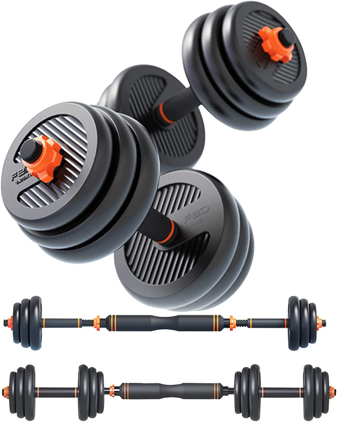 FEIERDUN 67% OFF of fixed price Free Dumbbells Max 64% OFF Weights Set Adjustable Workout Barbell E