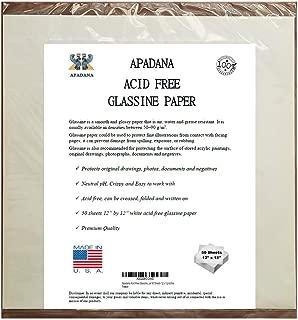 Apadana Acid Free Glassine Paper 50 Sheets 12 x 12 Inches