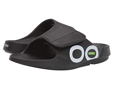 OOFOS OOahh Sport Flex (Black/White) Running Shoes