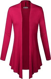 Women Open Front Lightweight Soft Drape Light Sweater Cardigan