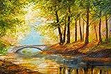 Árbol de la Vida Abstracto Colorido DIY de Pintura al óleo, Pintura por número Kits del Adulto, Pintura crílica40x60cmPintura sin Marco