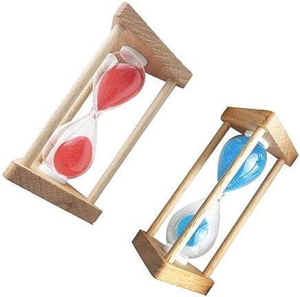 Baosity 10分 + 5分 木製 フレーム 砂時計 ホーム インテリア 友人 ギフト