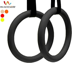 Wacces Exercise Fitness Gymnastic Rings with Heavy Duty Adjustable Strap