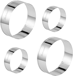 Bakerpan Stainless Steel Cookie Cutter Round Biscuit (2 Inch & 3 Inch)