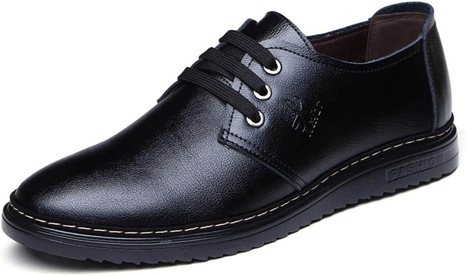 XINBONG Men's Formal shoes Lace Up Warm Black Brown Oxford shoes