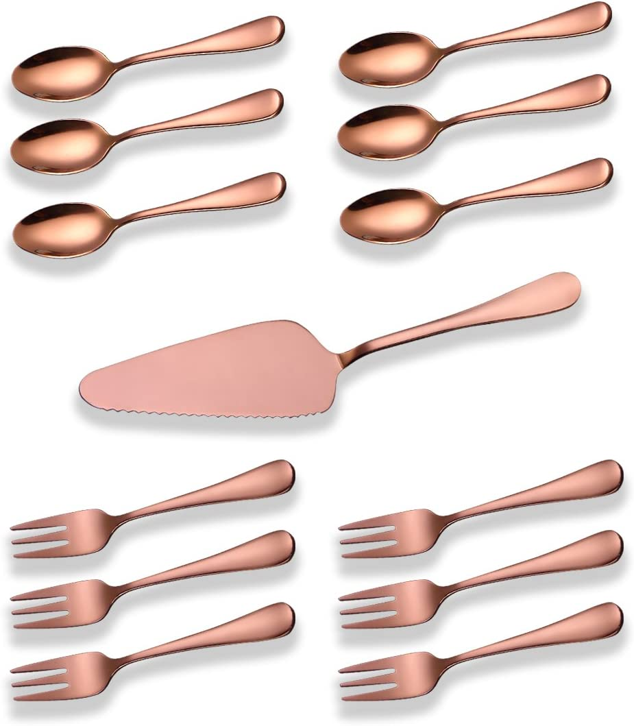 Berglander Stainless Steel Rose Gold Long Beach Mall Serving Cake S Color Bombing free shipping Copper