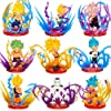 WSWJJXB 9PCS /ロットドラゴンボールZアクションは孫悟空孫悟飯ベジータZamasu Brolyスーパーサイヤ人フリーザエナジーエフェクトアニメDBZモデルのおもちゃを図 (Color : White)