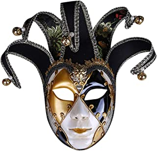 Halloween Full Face Venetian Masquerade Mask for Women or Men Resin Music Mardi Gras Wall Easter Decoration Gift