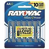 RAY-O-VAC 81512CF Alkaline Batteries, AA, 12/Pack