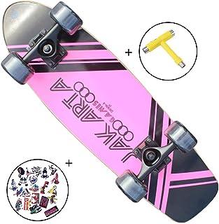 SFRMUT Skateboard Monopatín Retro Cruiser 27″ Penny de Madera de Arce Skate para Principiante Adulto Profesional Niño Niña, Regalo Vintage