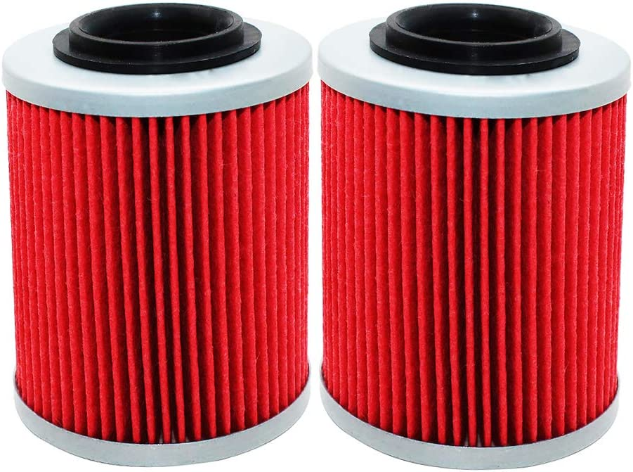 2 Pack Yerbay Oil Filter for Can-am Commander Bombardier Outlander Max 330 400 650 800 500 1000 DS650 DS650X BAJA