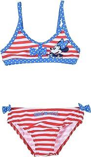 Minnie- Maillot de Bain 2 pièces bébé/Enfant Fille Rouge et Marine de 12 à 36mois