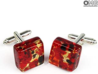 Cufflinks - red - Original Murano Glass OMG