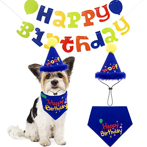 PAWCHIE Dog Birthday Decorations Kit