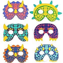 4. Blue Panda Store Kid's Dinosaur Foam Party Masks (24pcs)