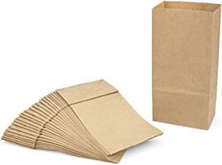 Foraineam 300 Pack Mini Kraft Paper Bags 3.5 x 2 x 6.7 inch Durable Brown Paper Snack Bag Small Cookie Party Favor Bags