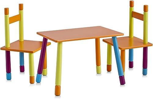 liquidación hasta el 70% Zeller 13455 Color - Juego de Mesa y y y sillas Infantiles (Tablero DM, 3 Piezas, Mesa  40 x 60 x 42 cm, sillas  28 x 28 x 53 cm)  venta con alto descuento