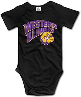 Western Illinois Funny Short Sleeves Variety Baby Onesies Bodysuit for Boys