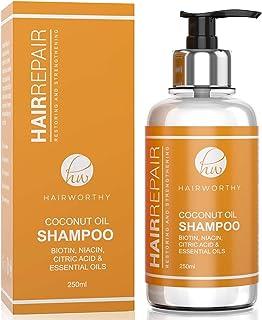 Hairworthy Hairrepair Shampoo/Champú De Aceite De Coco – BIOTINA NIACINA ÁCIDO CÍTRICO Y ACEITES ESENCIALES.