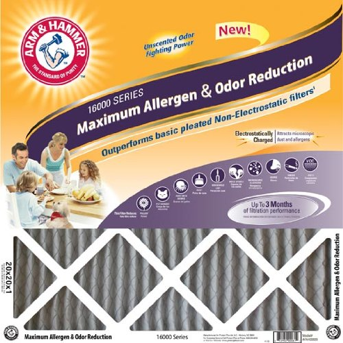 12x24x1 Arm and Hammer Max Odor Air Filter (4 Pack)