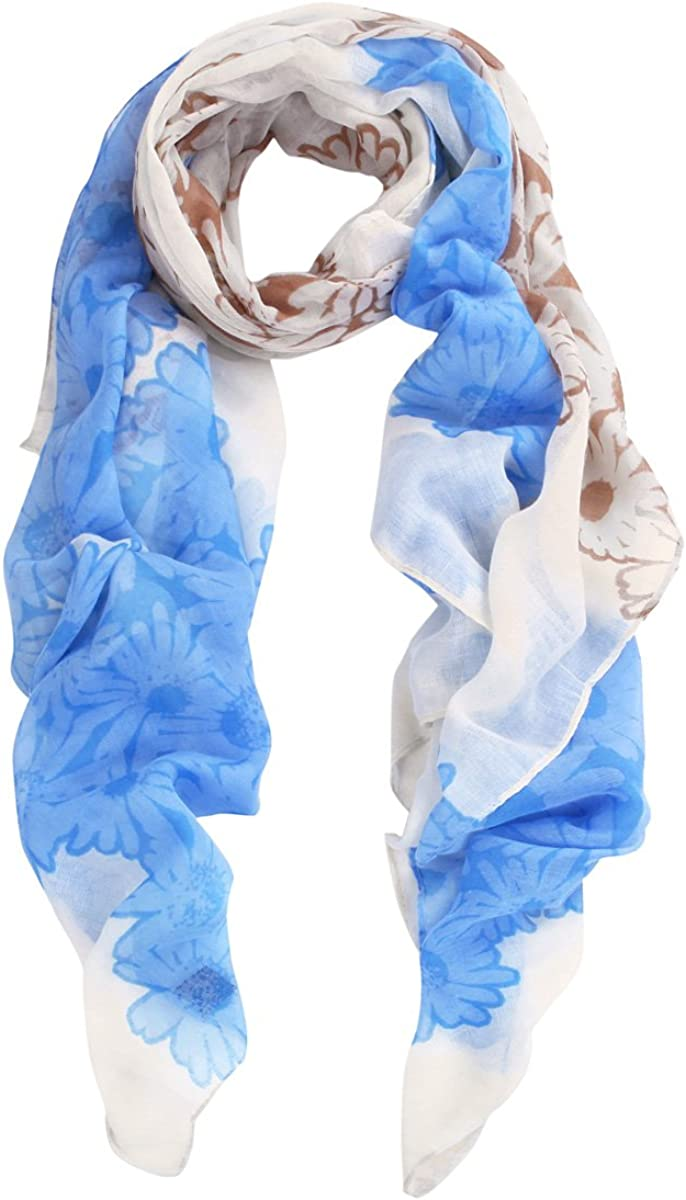 Elegant Daisy Floral Print Fashion Scarf Wrap