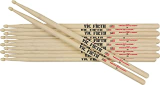 Vic Firth 6-Pair American Classic Hickory Drum Sticks Nylon Classic Metal