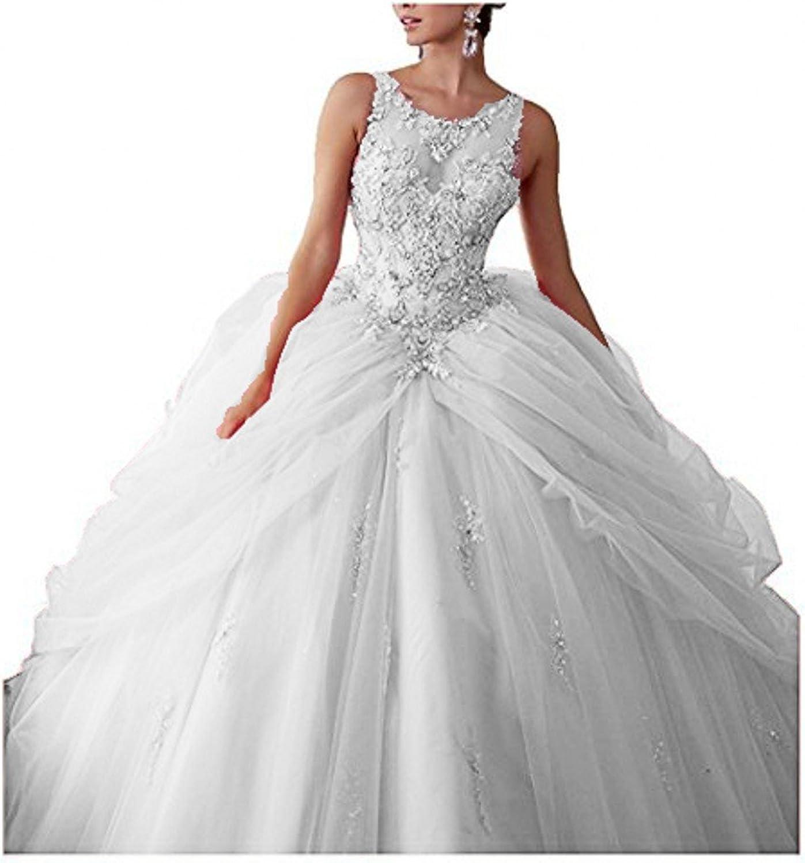 LEJY Women's Beading Sweetheart Ball Gown Quinceanera Dress 2018