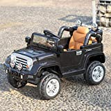 JAXPETY Electric Kid Ride-On Cars 12V Battery Motorized Vehicle with Remote Control, Music Horn, MP3 Player, LED Lights, Black