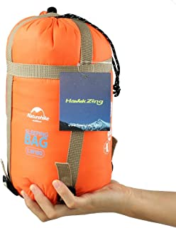 Naturehike ポータブル屋外旅行寝袋 ハイキング封筒寝袋 春 夏 秋のための多機能キャンプ用寝袋 (M 、 M、 Orange)