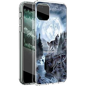 ZhuoFan Coque iPhone 11 Etui en Silicone 3D Transparente avec Motif Dessin Antichoc Souple TPU Housse de Protection Case Cover Coque pour Téléphone Apple iPhone11 Fleur Noir