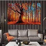 Pintura sin Marco Arte manglar Bosque Lienzo Pintura decoración del Paisaje Arte de la Pared Sala de Estar decoración del hogarZGQ4787 50X75cm