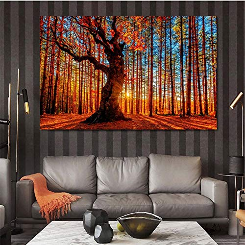 Rahmenlose Malerei Kunst Mangrovenwald Leinwand Malerei Landschaftsdekoration Wandkunst Wohnzimmer HauptdekorationZGQ4785 30X45cm