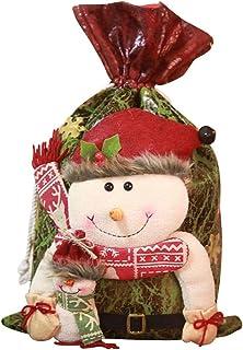 Bolsas de Regalo de Navidad Lindo Papá Noel Muñeco de Nieve Elk Caramelo Bolsa de Lona