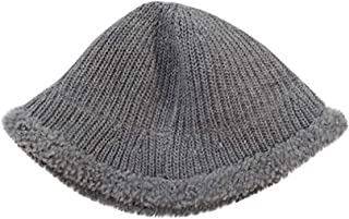 LENXH Women's Knit Hat Solid Color Fisherman Hat Warm Wool Hat Simple Hat Casual Fashion Cotton Cap