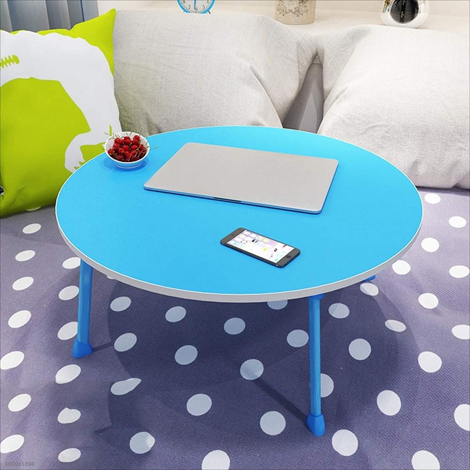 NAN Lazy Table Student's Small Table Bed Student Desk Dormitory Folding Computer Round Folding Tables