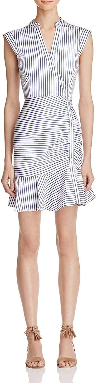 Lucy Paris Womens Kimmy Striped Ruched Mini Dress