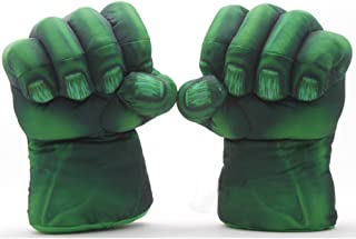 Eden Fghk 2pcs/1set Plush The Incredible Hulk Gloves 11