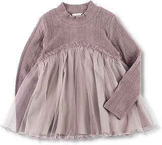 [ブランシェス] チュール 重ね着風 長袖 Tシャツ キッズ