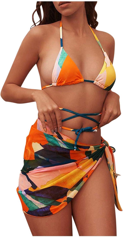 Cheap bargain 3 Piece Swimsuits for Women Women's Biki Side Halter Tie Max 54% OFF
