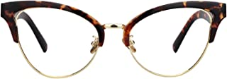 Zeelool Women's Browline Cat Eyeglasses Frame with Clear Lens Charlene FX0819