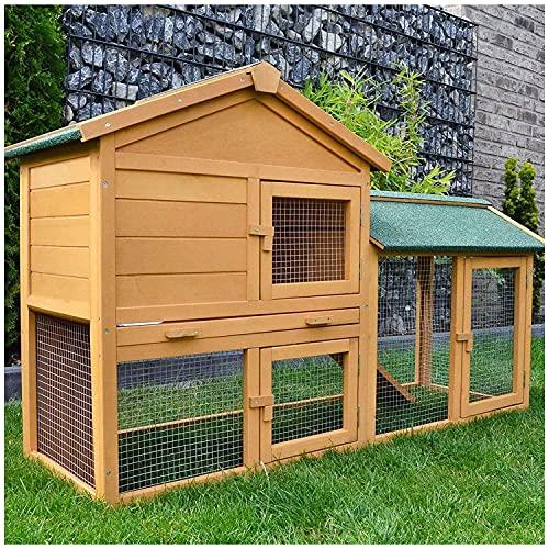 zooprinz Kaninchen-Villa Hasenstall Haupthaus mit Kuschelplatz für ihre Hasen - unten viel Auslauf für Kleintiere: Hasen Kaninchen Meerschweinchen