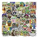 ZAYALI Baby Yoda Stickers, 50 Pcs, Cute & Funny, The Mandalorian Star Wars Decal for Hydro Flask, Laptop, Mug Water Bottles, MacBook, Skateboard, Guitar, Car, Motorcycle, Bike, PS, Xbox ONE