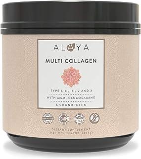 Alaya Multi Collagen Powder for Women - Type I, II, III, V, X Hydrolyzed Collagen Peptides Protein Powder Supplement with ...