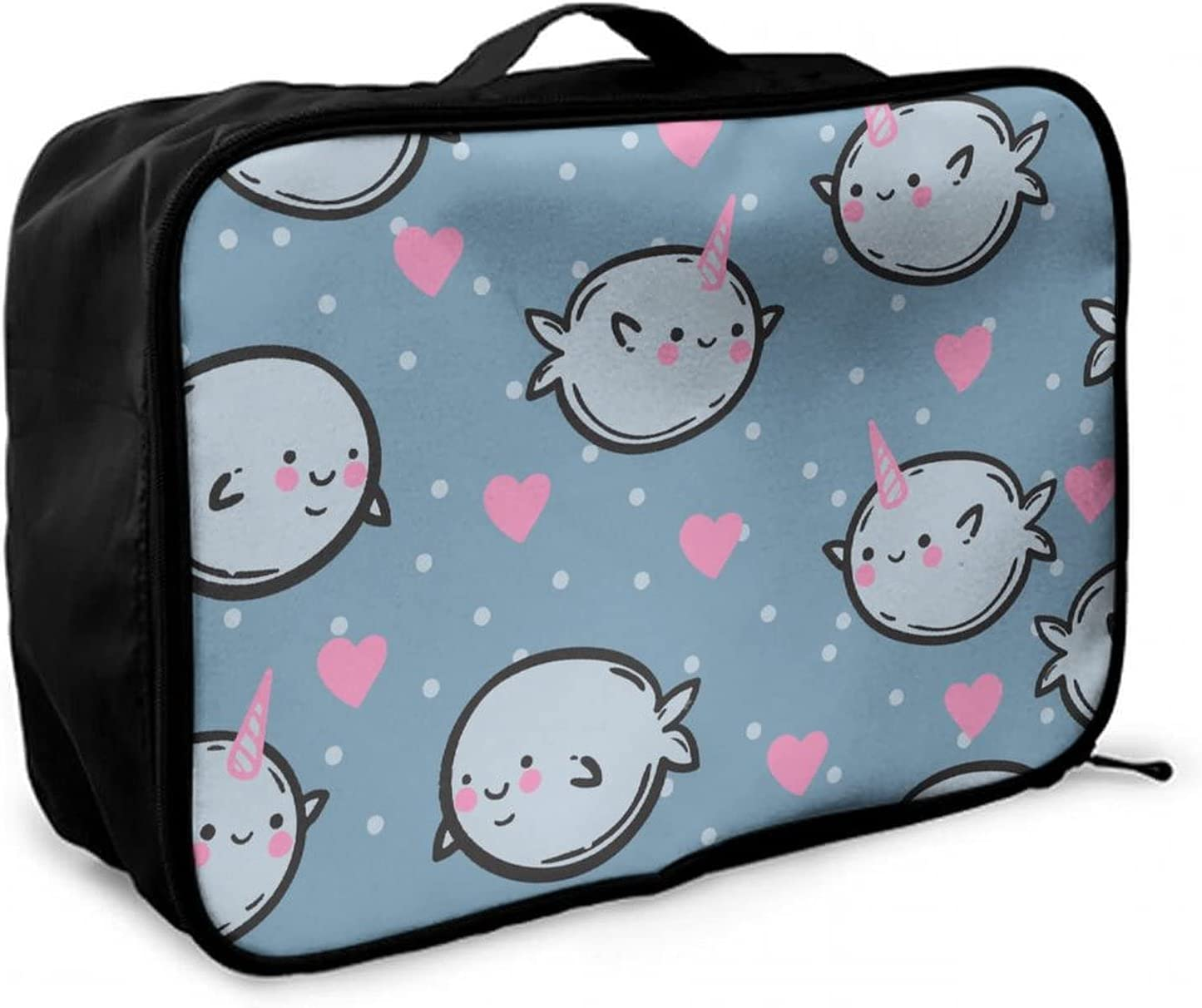 NiYoung Unicorn Narwhal Manufacturer direct delivery Sale special price Love Travel Duffle Large Bag Lightweight
