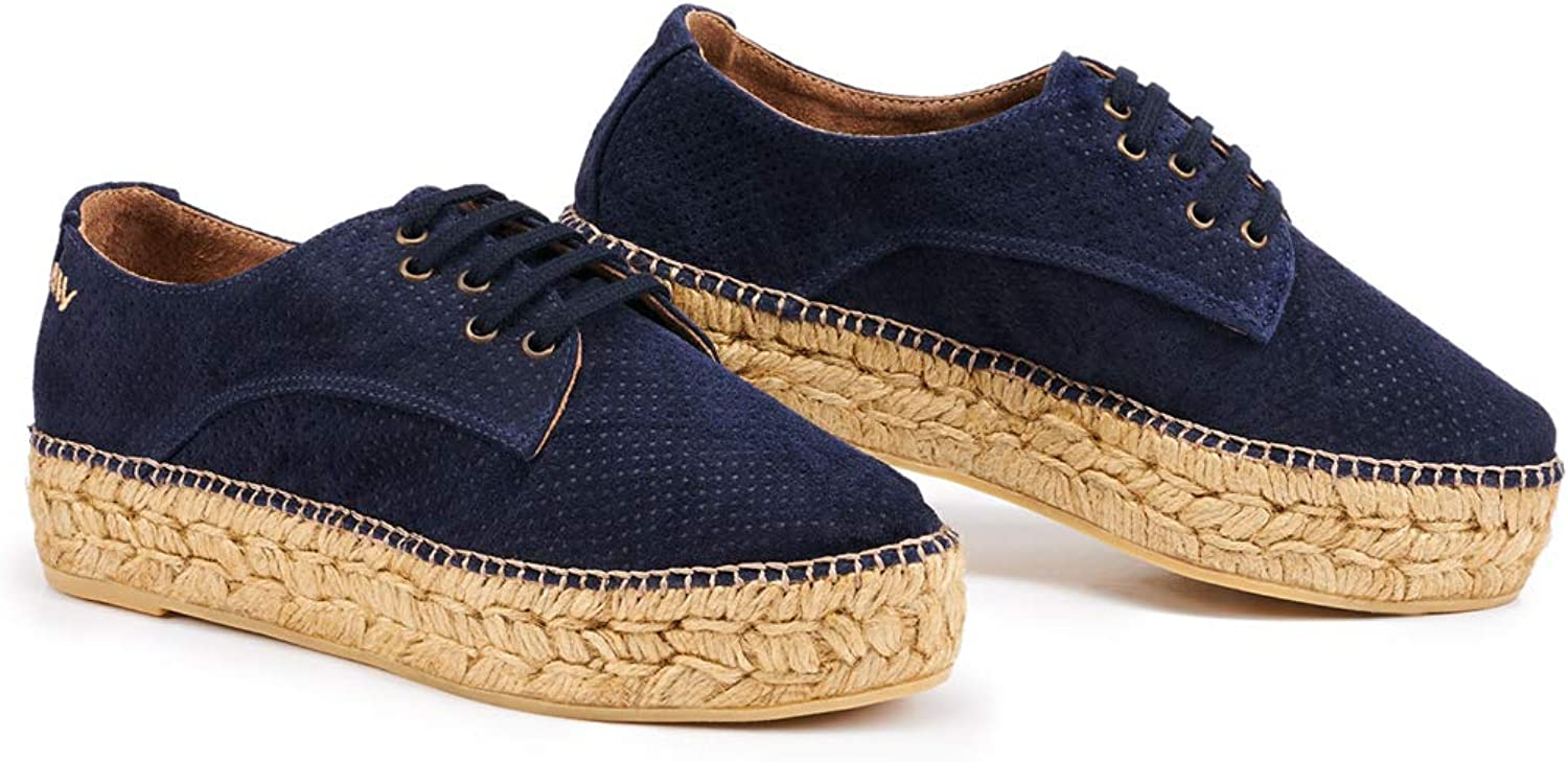VISCATA Handmade in Spain Raco Suede Platform, Authentic and Original Espadrille Flats